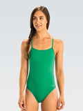 Dolfin Graphlite Series Solid Cross Back Swimsuit - Green