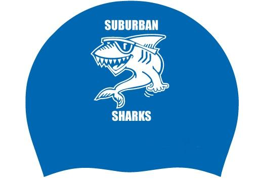 Royal Silicone Team Cap - Suburban Sharks - K&B Sportswear