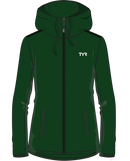 TYR Women's Team Full Zip Hoodie in Green with Team Logos & Personalization - SSYS