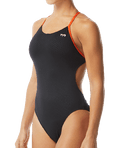 TYR Women's Hexa Cutoutfit Swimsuit - Black/Orange