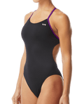 TYR Women's Hexa Cutoutfit Swimsuit - Black/Purple