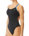 TYR Women's Hexa Cutoutfit Swimsuit - Black/Blue