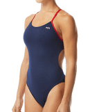 TYR Women's Hexa Cutoutfit Swimsuit - Navy/Red