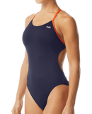 TYR Women's Hexa Cutoutfit Swimsuit - Navy/Orange