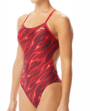 TYR Women's Reaper Cutoutfit Swimsuit - Red