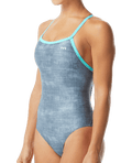 TYR Women's Sandblast Diamondfit Swimsuit - Grey/Teal
