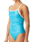 TYR Women's Sandblast Diamondfit Swimsuit - Turquoise/White