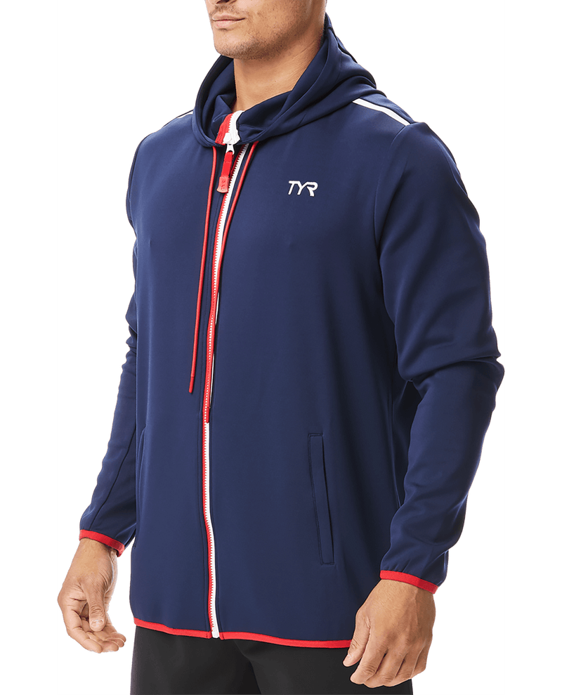 TYR Men's Alliance Podium Full Zip Hoodie - K&B Sportswear