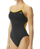 TYR Women's Hexa Trinityfit Swimsuit - Black/Gold