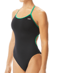 TYR Women's Hexa Trinityfit Swimsuit - Black/Green