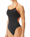 TYR Women's Hexa Trinityfit Swimsuit - Black/Orange