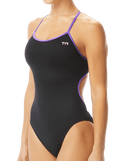 TYR Women's Hexa Trinityfit Swimsuit - Black/Purple