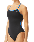 TYR Women's Hexa Trinityfit Swimsuit - Black/Blue