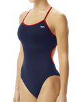TYR Women's Hexa Trinityfit Swimsuit - Navy/Red