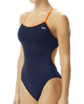 TYR Women's Hexa Trinityfit Swimsuit - Navy/Orange