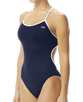TYR Women's Hexa Trinityfit Swimsuit - Navy/White