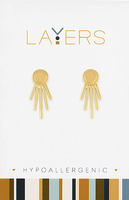 Layers Gold Starburst Ear Jacket Earrings 06G