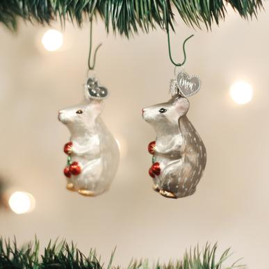 Old World Christmas - Mouse Ornament