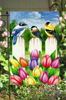 Birds on a Fence Garden Flag