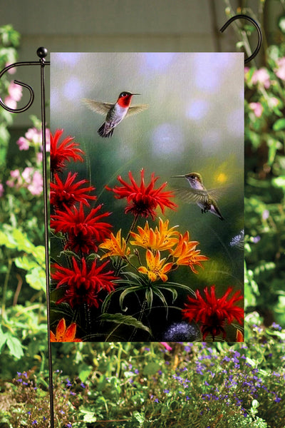 Hummingbird Garden Flag