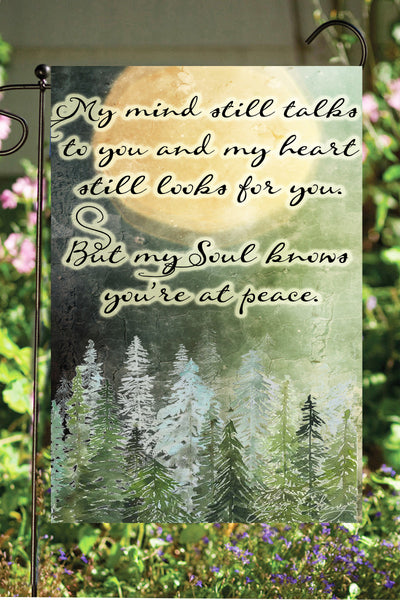 My Mind Still Talks To You Garden Flag