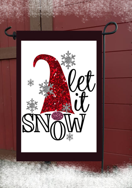 Let It Snow Garden Flag