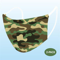 2 Pack Cloth Mask - Comfortable, Stylish, Reusable Face Mask 2 Layers - Adult and Kids Sizes