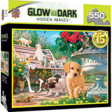 Afternoon in the Park Glow in the Dark 550 Piece Puzzle