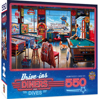 Drive-Ins, Diners, and Dives - Pockets Pool & Pub 550 Piece Puzzle