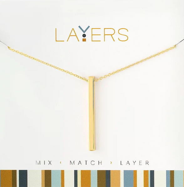 Layers Gold Single Bar Necklace - 31G