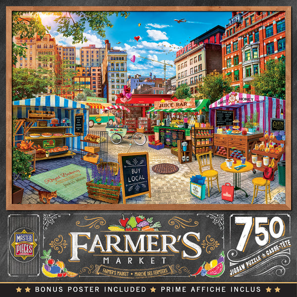 Farmer's Market - Buy Local Honey 750 Piece Puzzle