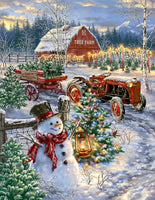 Christmas Tree Farm 500 Piece Puzzle