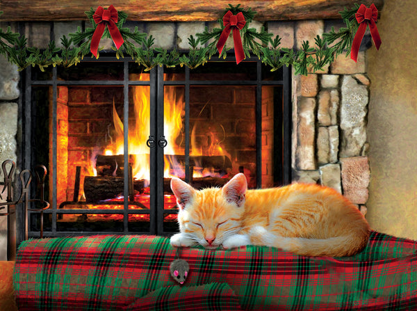 Fireside Snooze 500 Piece Puzzle