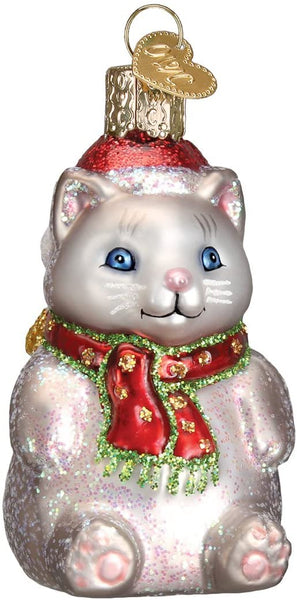 Old World Christmas - Winter Kitty Ornament