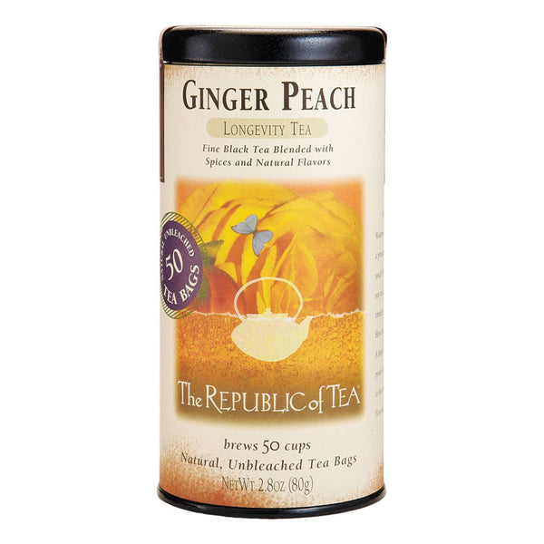 Republic of Tea - Ginger Peach Black (50 Bags)