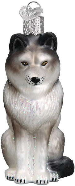 Old World Christmas - Sitting Wolf Ornament