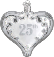 Old World Christmas - 25th Anniversary Heart Ornament