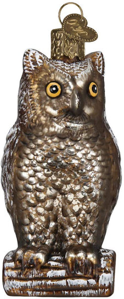 Old World Christmas - Vintage Wise Old Owl Ornament