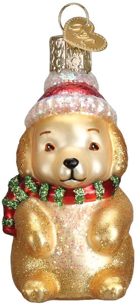 Old World Christmas - Winter Puppy Ornament