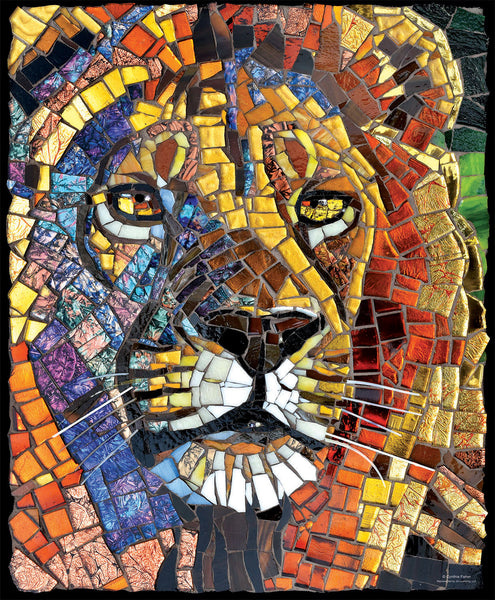 Stained Glass Lion 1000 Piece Puzzle