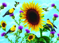 Sunflowers and Songbirds 500 Piece Puzzle