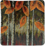 "Autumn Leaves Collection 11.5"" Square Plate"