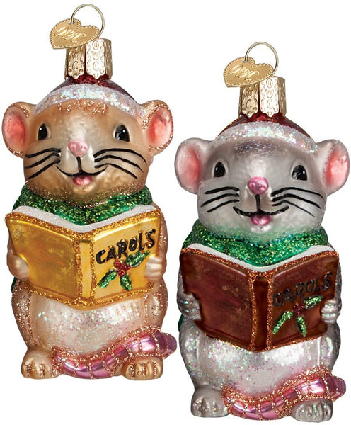 Old World Christmas - Caroling Mouse Ornament
