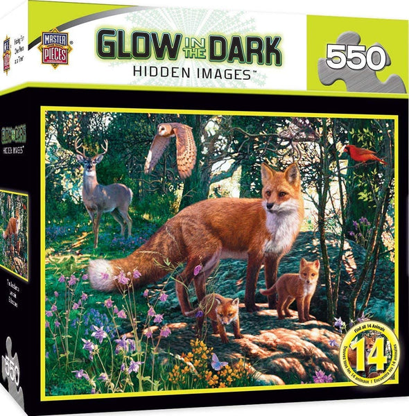 The Woodlands Glow in the Dark 550 Piece Puzzle