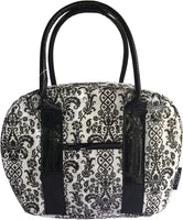 Bowler Lunch Bag - Damask Black & White