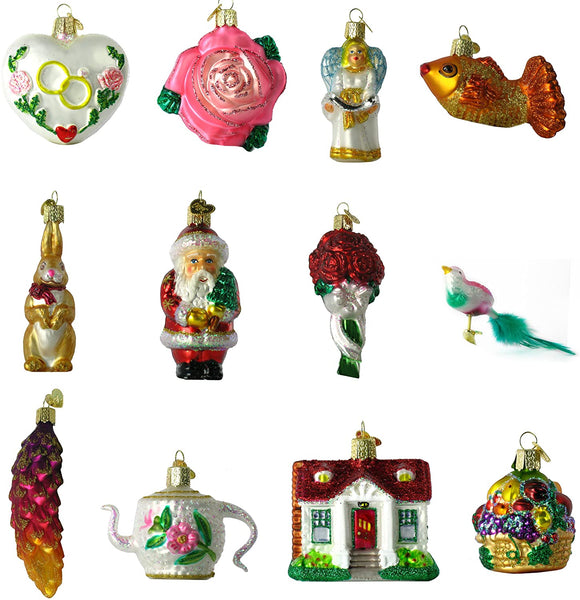 Old World Christmas - Bride's Ornament Collection (Set of 12)