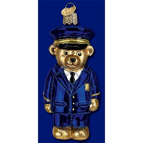 Old World Christmas - Police Officer Bear Ornament
