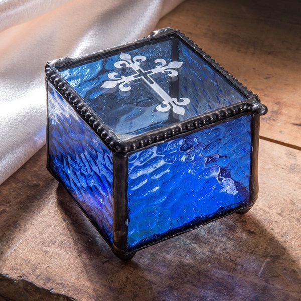 J. Devlin Glass Box - Blue Hammered