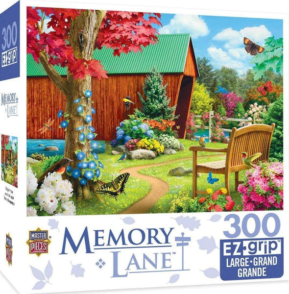 MasterPieces Memory Lane Bridge of Hope Country Bridge Large EZ Grip Jigsaw Puzzle by Alan Giana, 300-Piece