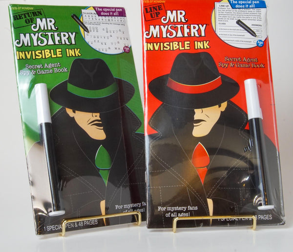 Return of Mr. Mystery and Mr. Mystery Line Up Invisible Ink Book Set of 2